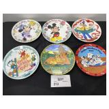 (6) DISNEY MOTHERS DAY PLATES