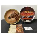 (2) HORSE AND CAROUSEL PLATES