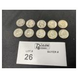 LOT 12 PRE 1964 SILVER QUARTERS SEE PHOTOS