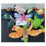 TY BEANIE BABY LOT SNAKE DRAGONFLY ETC.  8 TOTAL