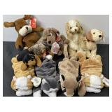 TY BEANIE BABY LOT DOGS ETC. 10 TOTAL