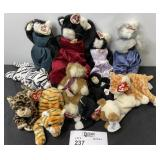 TY BEANIE BABY LOT  CATS ETC. 11 TOTAL