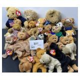 TY BEANIE BABY LOT BEARS ETC. BROWN 30 TOTAL