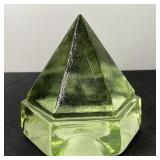 GEOMETRIC GLASS PAPERWEIGHT