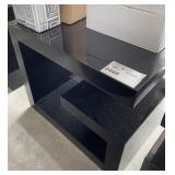 "BLACK END TABLE 24"" X 24"