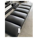 "BLACK LEATHER BENCH 69"" X 24"" X 16"""