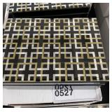 "LACQUERED BOX BLACK AND GOLD SILVER 8"" X 5"" X 3"""