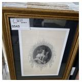 "VINTAGE PHOTO PRINT GOLD FRAME 19"" X 23"""