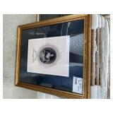 "VINTAGE PHOTO PRINT GOLD FRAME 26"" X 22"""