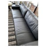 "BLACK LEATHER SOFA 102"" X 35"" X 31"""