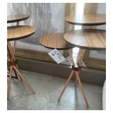 TRI LEVEL ACCENT TABLE WITH COPPER TONE LEGS