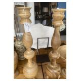 WOOD CANDLE HOLDERS 41""