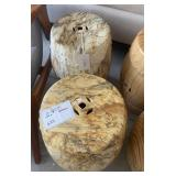 STONE FINISH GARDEN STOOL 18""