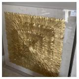 SQUARE SHADOW BOX SQUARE GOLD LEAF