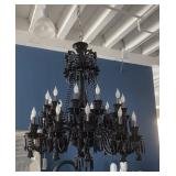 LARGE BLACK CRYSTAL CHANDILIER