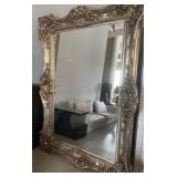 "OVERSIZED SILVER LEAF MIRROR 90"" X 69"""
