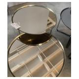ROUND BRASS FINISH TABLE 24""