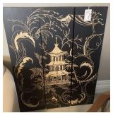 "SET ORIENTAL WALL PANELS WOOD 36"" X 48"""
