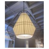 "GEOMETRIC CAGE LIGHTING FIXTURE 39"" X 47"""