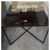 "COFFEE TABLE BLACK 24"" X 24"" X 20"""