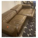 "LEATHER PULL OUT SOFA 43"" X 107"""