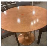 "39"" ROUND COPPER FOIL TABLE"
