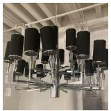 BLACK AND CHROME LIGHTING FIXTURE