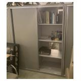 Gray Sliding Door Storage Cabinets