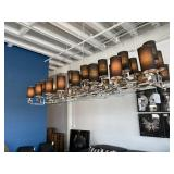 DESIGNER LIGHTING CHROME AND BLACK SHADES
