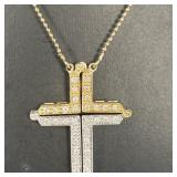 14K WHITE / YELLOW GOLD AND DIAMOND NECKLACE
