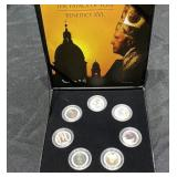 POPE BENEDICT XVI COIN SET WITH BOOKLET AND CASE