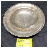 STERLING SILVER FOOTED PLATTER  1 POUND 7.5 OUNCES