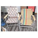 (2) Woven Lawn Chairs