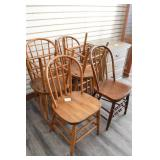 (6) Antique Bent Wood Dining Chairs