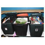 (3) Totes of Christmas & Holiday Decorations