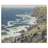 WILSON, James Perry. Oil on Panel. Coastal Scene.