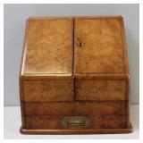Victorian Walnut Desk Top Secretary /Letter Holder