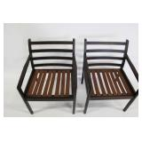 MIDCENTURY. Pair of Rosewood Arm Chairs.
