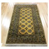 Vintage and Finely Hand Woven Bokhara Carpet