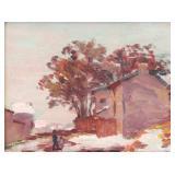 SCHUFFENECKER, Claude Emile. Oil on Canvas.