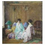 PENE DU BOIS, Guy (Attr.) Oil on Canvas.