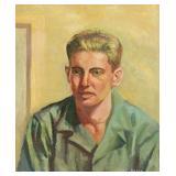 BAMA, James. Oil on Board. Portrait of a Man.