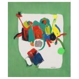 "POLO, Maria. Oil on Canvas. ""Green""."