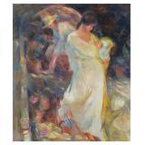 BOFILL, Beltran. Oil on Panel. Two Women.