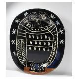 """PICCASSO, PABLO. """"Brilliant Owl"""" Madoura Ceramic."""