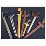 7 Assorted Vintage Kris & Other Edged Weapons