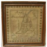 19th C Sampler Map of Palestine