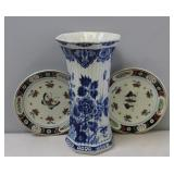 Lot of 3 Antique Delft Porcelains to Include