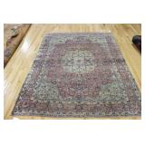 Antique and Finely Hand Woven Kirman Carpet