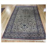 Antique and Finely Hand Woven Persian Silk Carpet.